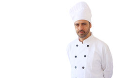 Chef in white toque Royalty Free Stock Photography