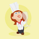 Chef with wine glass Stock Image