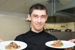 Chef wishes bon appetit Stock Images
