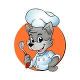 Chef Wolf de bande dessinée Photographie stock libre de droits