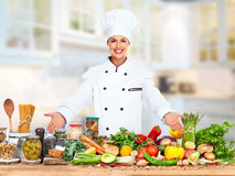 Chef woman. royalty free stock image