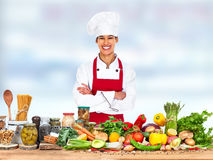 Chef woman. stock images