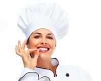 Chef woman. Stock Photo
