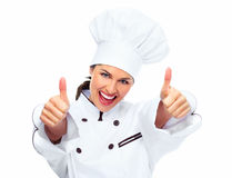 Chef woman. stock image