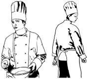 Chef Woman Set Royalty Free Stock Image