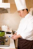 Chef at work Stock Photo