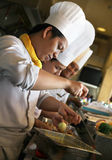 Chef at work stock photography