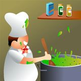 Chef at work stock illustration