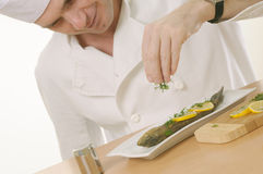 Chef at work Royalty Free Stock Images