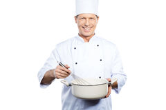 Chef at work. Royalty Free Stock Photo