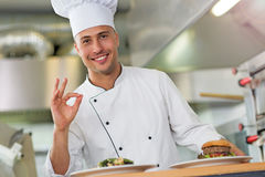 Chef at work Stock Photos