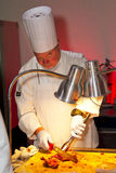 Chef at work during Restaurant Week Royalty Free Stock Photography