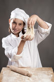 Chef working the dough Royalty Free Stock Photo