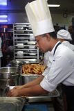 Chef Working In The Kitchen Royalty Free Stock Photo