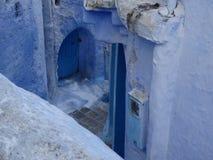 Chefchaouen, μπλε πόλη του Μαρόκου στοκ εικόνα