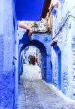 Chefchaouen, μπλε πόλη στο Μαρόκο Στοκ Εικόνες