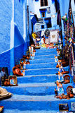 Chefchaouen μπλε Medina, Μαρόκο Στοκ εικόνες με δικαίωμα ελεύθερης χρήσης