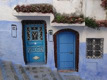 Chefchaouen, голубой город Марокко Стоковое Фото