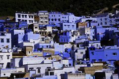 Chefchaouen, голубой город стоковое изображение rf