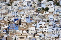 Chefchaouen, Марокко - вид с воздуха Medina Стоковые Изображения RF