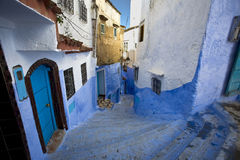 Chefchaouen. Morocco. Chefchaouen - a typically in blue royalty free stock photography