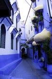 Chefchaouen Błękitny miasto Zdjęcia Royalty Free