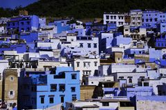 Chefchaouen Błękitny miasto Fotografia Royalty Free
