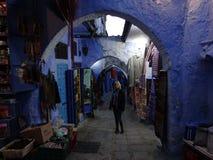 Chefchaouen, błękitny miasto Maroko Zdjęcie Stock