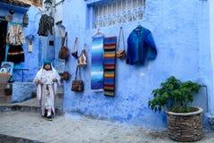 Chefchaouen błękitny miasto w Maroko Obraz Royalty Free