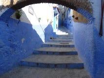 Chefchaouen, blaue Stadt von Marokko lizenzfreie stockbilder