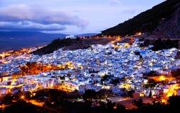 Chefchaouen Blauwe Medina, Marokko Stock Afbeeldingen