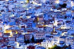 Chefchaouen blått Medina, Marocko Arkivbilder
