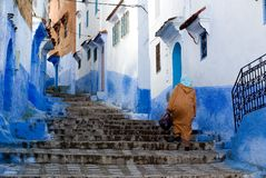 Chefchaouen blue city Royalty Free Stock Photo