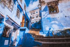 Chefchaouen ,Blue city of Morocco. Chefchaouen medina Blue city of Morocco, Africa royalty free stock image