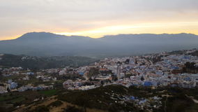 Chefchaouen the blue city in Morocco. stock footage