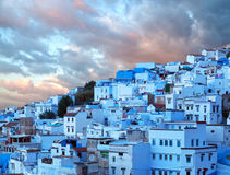 Chefchaouen blue medina in Morocco, Africa Royalty Free Stock Photos