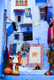 Chefchaouen Blue Medina, Morocco. Street in Medina of blue town Chefchaouen, Morocco. Chefchaouen is a city in northwest Morocco. It is the chief town of the royalty free stock images