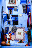 Chefchaouen Blue Medina, Morocco Royalty Free Stock Images