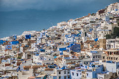 Chefchaouen blue town general view at Morocco Stock Photo