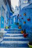 Chefchaouen - Blue village in Morocco Royalty Free Stock Images