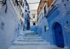 Chefchaouen - Blue village in Morocco Royalty Free Stock Photography