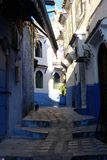 Chefchaouen, Morocco. Africa, arabic. path, steps and stairs. Chefchaouen or Chaouen is a city in northwest Morocco. It is the chief town of the province of the Royalty Free Stock Photography