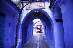 Chefchaouen, a cidade azul fotografia de stock royalty free