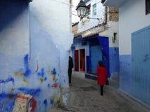 Chefchaouen, cidade azul de Marrocos foto de stock royalty free