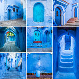 Chefchaouen-Collage Stockfotografie
