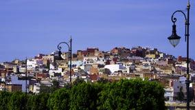 Chefchaouen den blåa staden Arkivbild