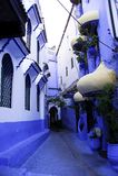 Chefchaouen den blåa staden Royaltyfria Foton