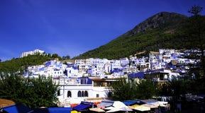 Chefchaouen den blåa staden Royaltyfria Bilder