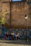 Chefchaouen, la città blu nel Marocco fotografia stock libera da diritti