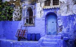 Chefchaouen, la ville bleue Image libre de droits